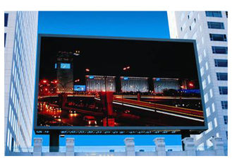 Cina HD Video Full Color Outdoor Advertising Dipimpin Tampilan P8 256 * 128mm Layar Besar pemasok
