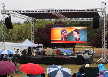 Cina P6 Outdoor LED Video Wall Display Seamless Installation Great Visual For Public pemasok