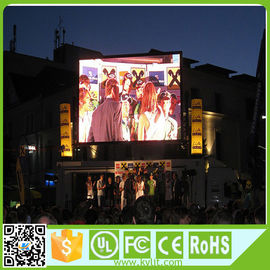 Cina RGB Large Outdoor Led Display Layar 1920Hz Refresh Rate 1/4 Memindai 10 Mm Pixel Pitch pemasok