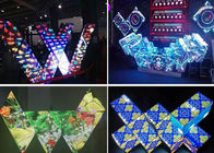 Cantik Berbagai Bentuk Dj Booth LED Screen Adjustable Brightness Full Color
