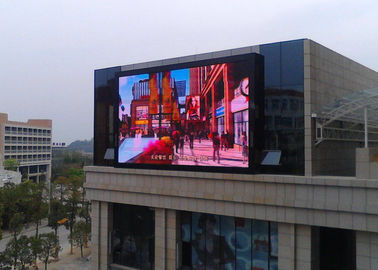 Raksasa komersial Led Screen Outdoor Advertising, Outdoor Digital Message Board 10mm Real Pixels