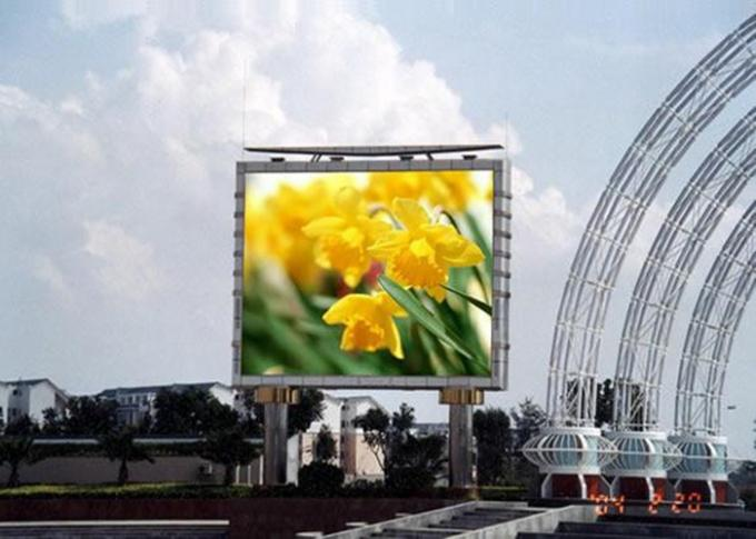 Super Slim Advertising Outdoor SMD Led Display RGB High Brightness 6mm Pixel Pitch